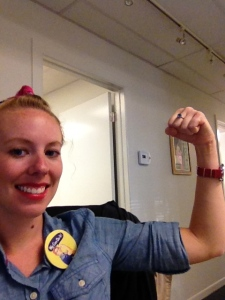 Last year's Rosie the Riveter costume!