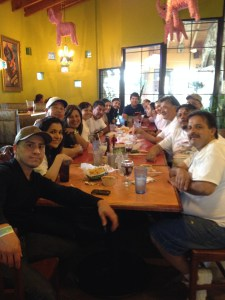 Dinner at the Finish Line Restaurant