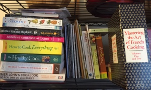 This is only a small portion of the cookbooks I own.