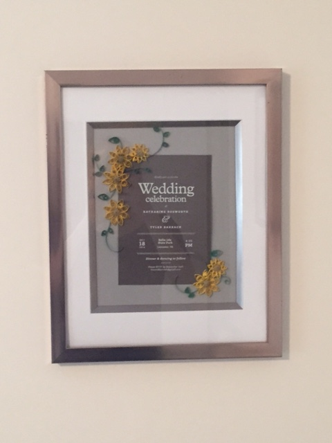 One of sweetest gifts we received from our wedding